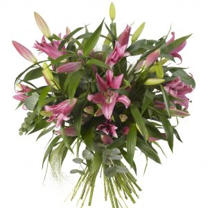 Lily and Seasonal Green Bouquet
